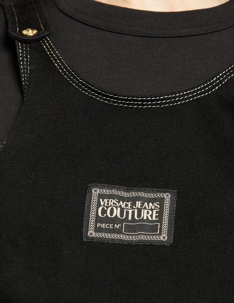 Versace Jeans Couture Patch Denim Dungaree Dress