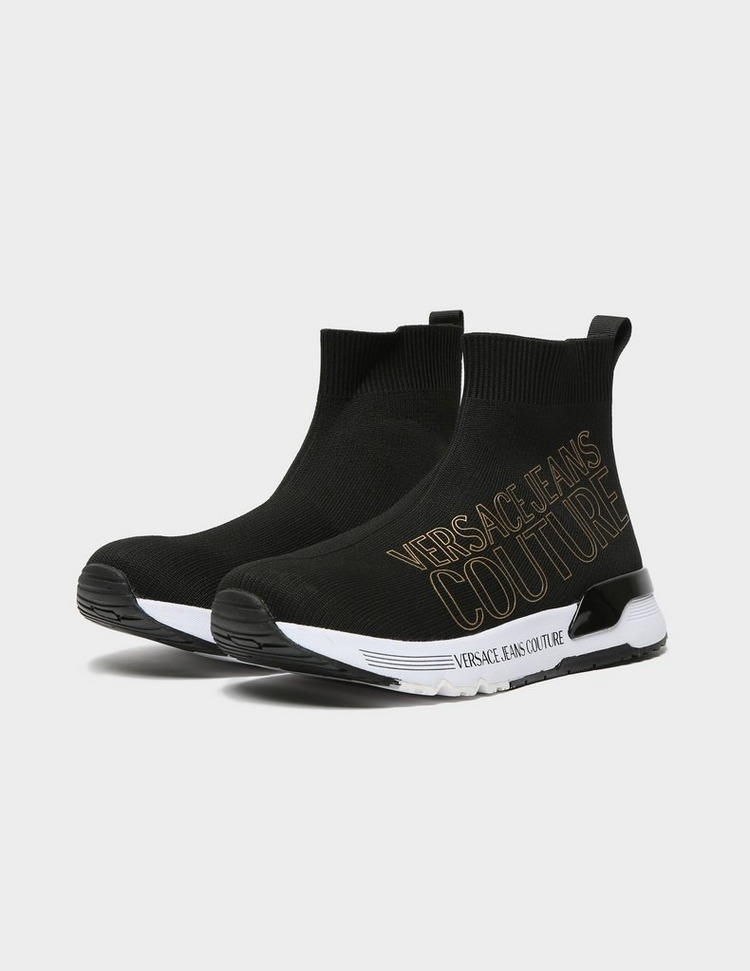 Versace Jeans Couture Gold Logo Chunky Sock Trainers
