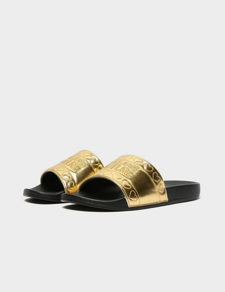 Versace Jeans Couture Heart Metallic Slides