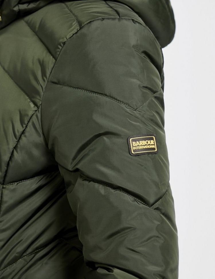 Barbour International Braeside Long Quilted Jacket