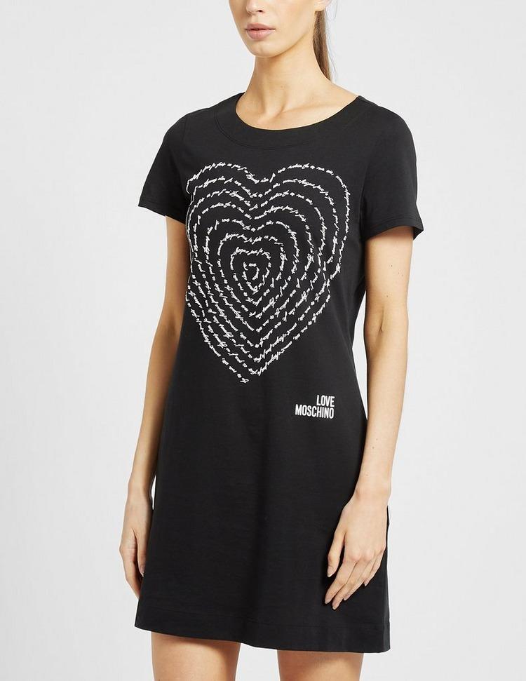 Love Moschino Swirl Logo T-Shirt Dress