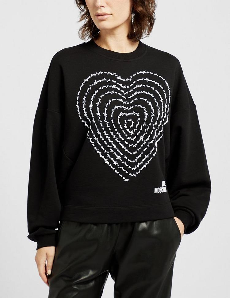 Love Moschino Swirl Logo Sweatshirt
