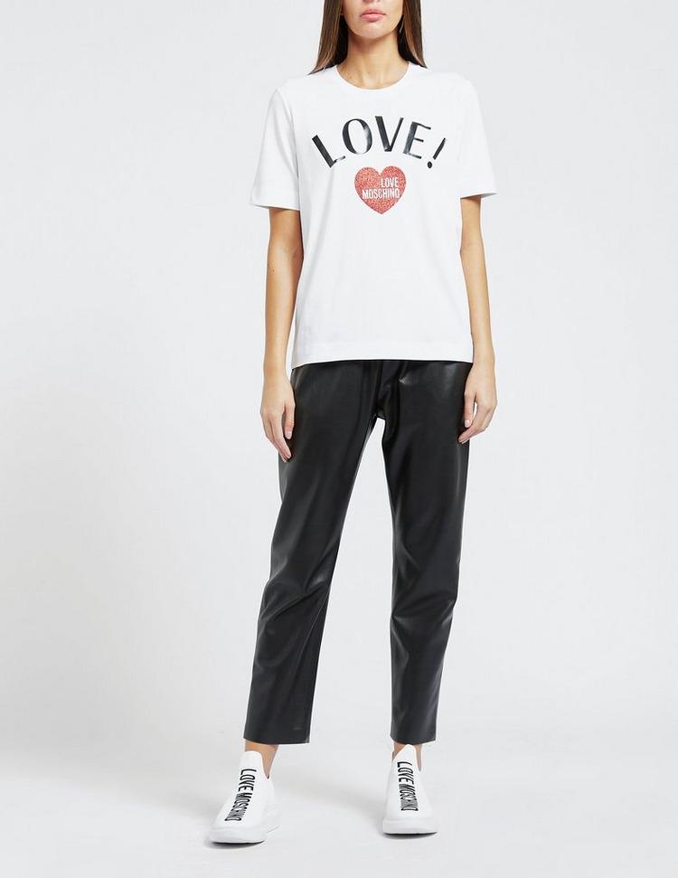 Love Moschino LOVE! Glitter T-Shirt