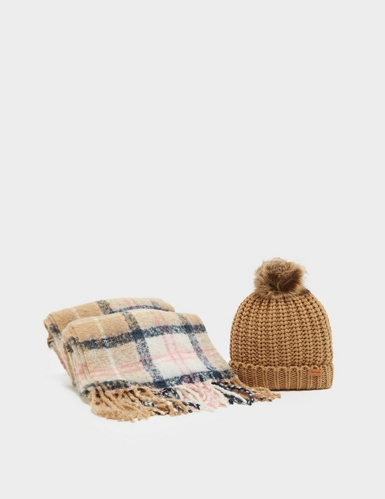 Barbour International Scarf and Beanie Set