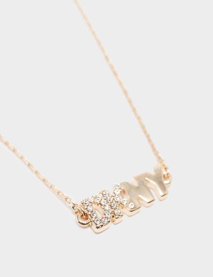 DKNY Jewellery Pave Logo Pendant Necklace