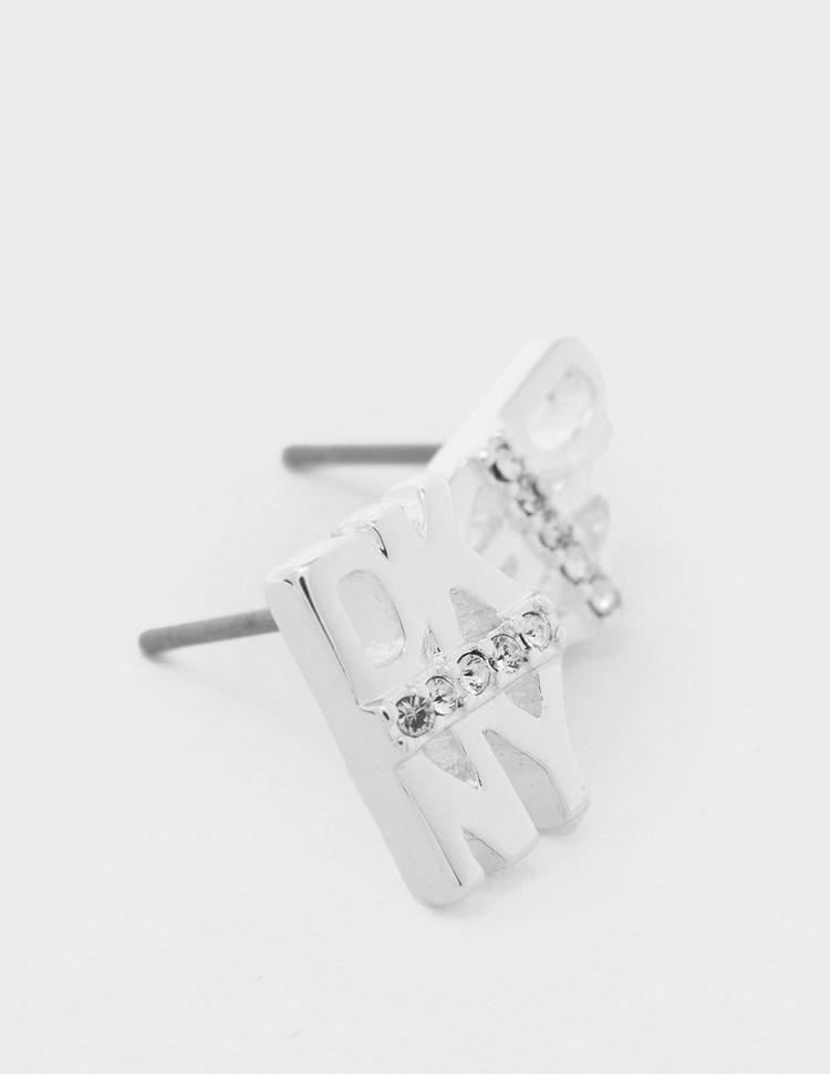 DKNY Jewellery Pave Logo Stud Earrings