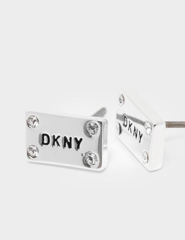 DKNY Jewellery Logo ID Stud Earrings