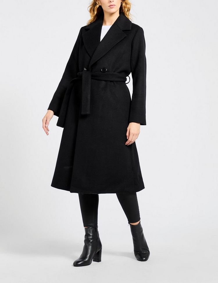 Armani Exchange Wool Belted Coat