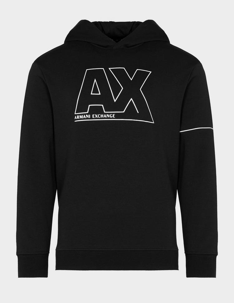 Armani Exchange AX Silver Logo Hoodie