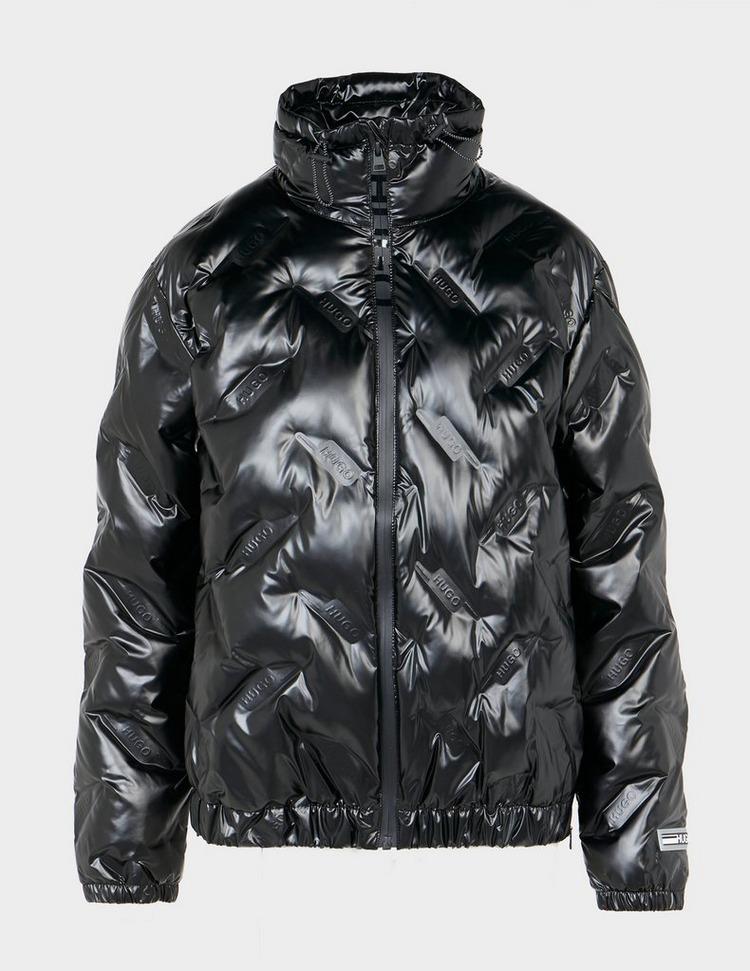 HUGO Embossed Shine Puffer Coat