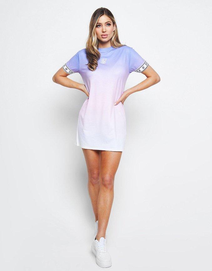Vestido lila con degradado de SikSilk