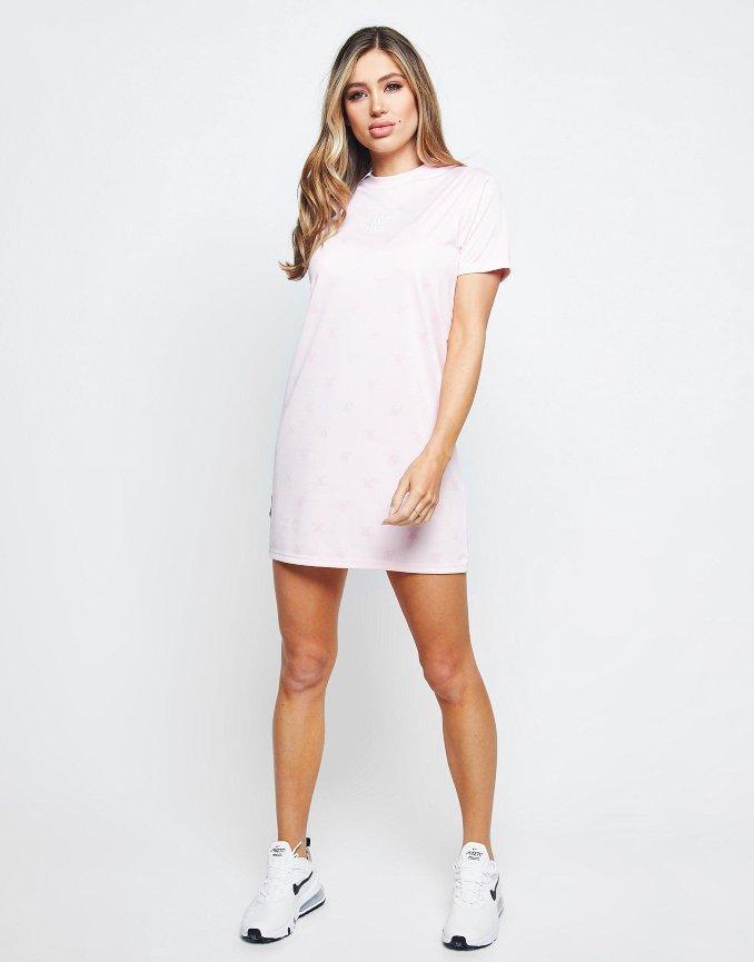 Vestido rosa de SikSilk