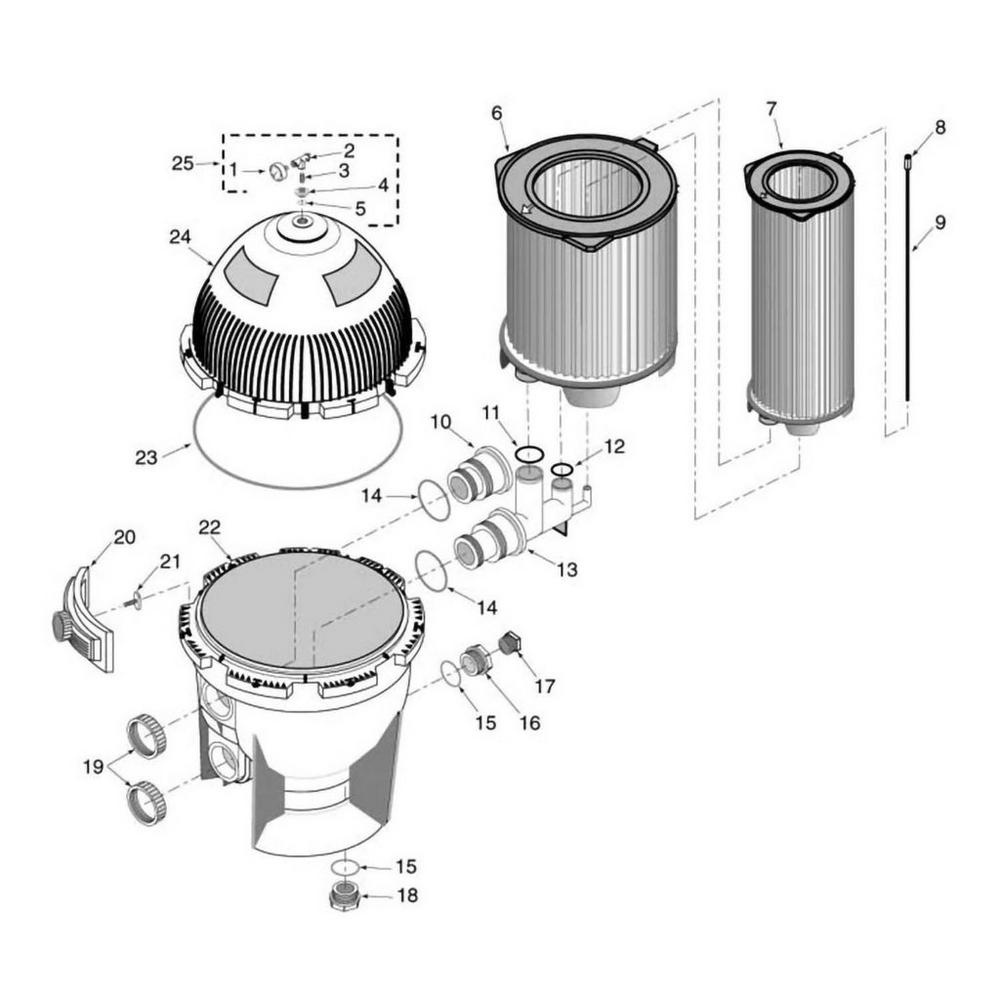 System 3 S7M, S8M Modular Media Cartridge Filter Parts image