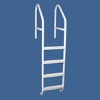 "Saftron - 30"" Commercial 5-Step Cross Braced Pool Ladder, Gray - 366832"