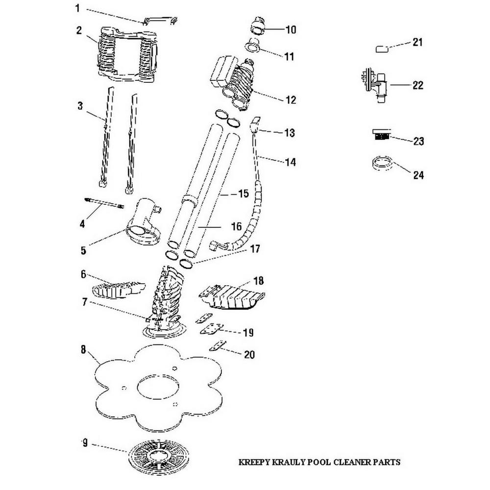 Pentair Kreepy Krauly Hoses & Accessories 1993 & Earlier image