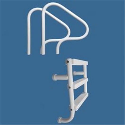 """Saftron - 7"""" x 26"""" Wall Mounted 3 Step Split Ladder, Taupe - 366846"""