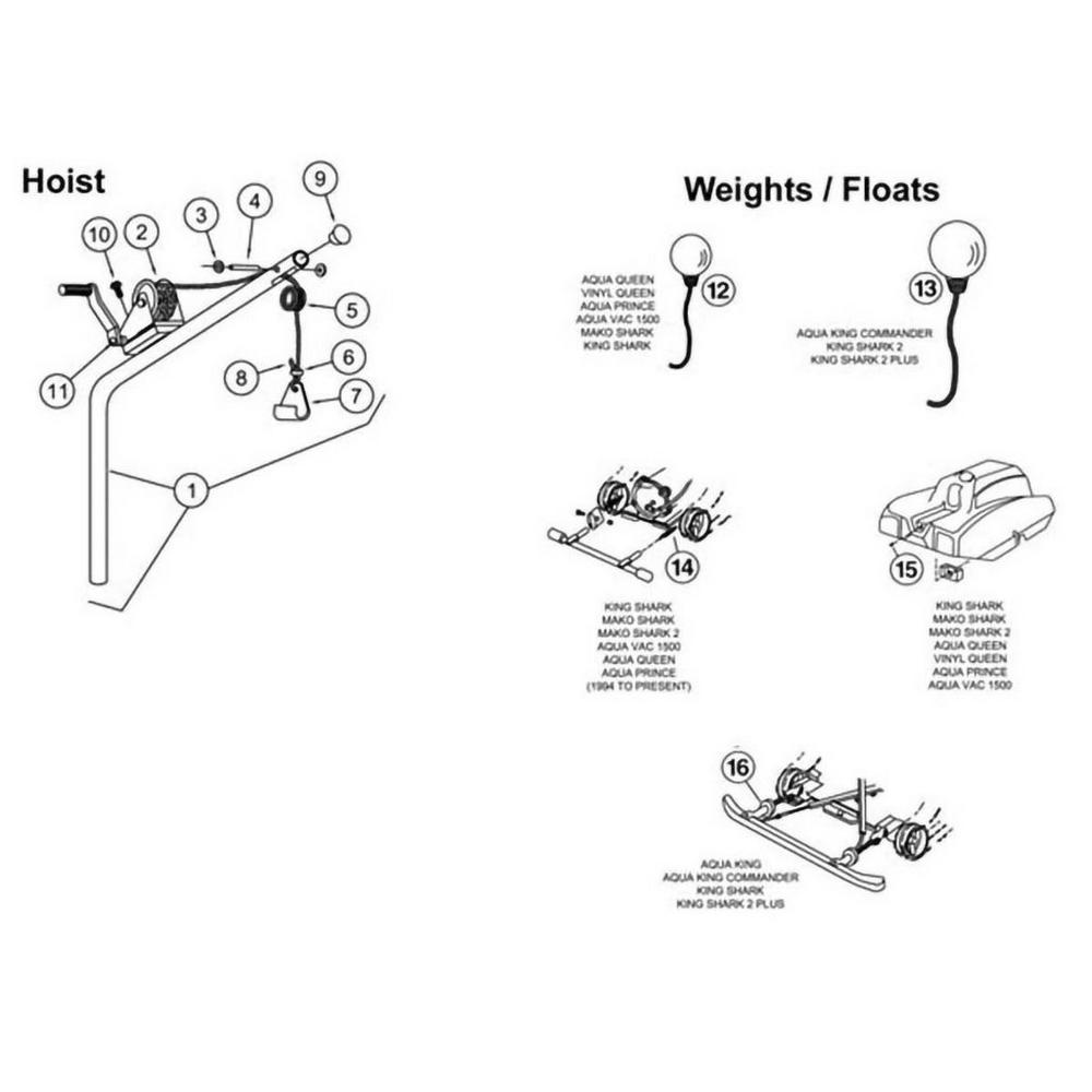 Aqua Vac Hoist, Weights & Floats image