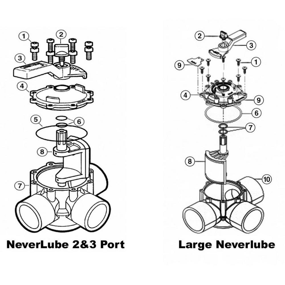 Jandy Ball & Diverter Valves NeverLube 2&3 Port Valves image