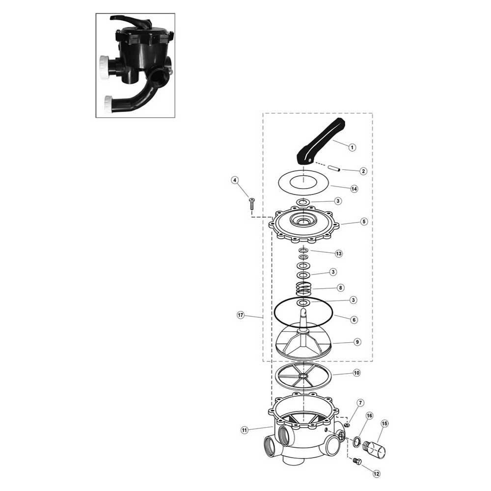 "Sta-Rite Side Valve 2"": 14971-0012, WC212-38, WC212-144P w/Plug Gasket image"