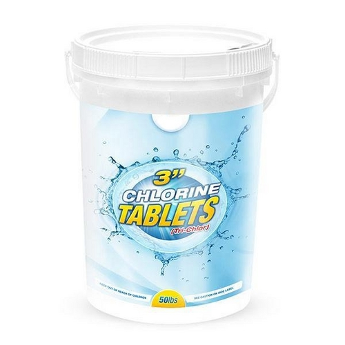 PoolSupplyWorld - 3 Inch Chlorine Tablets - 50 lb Bucket