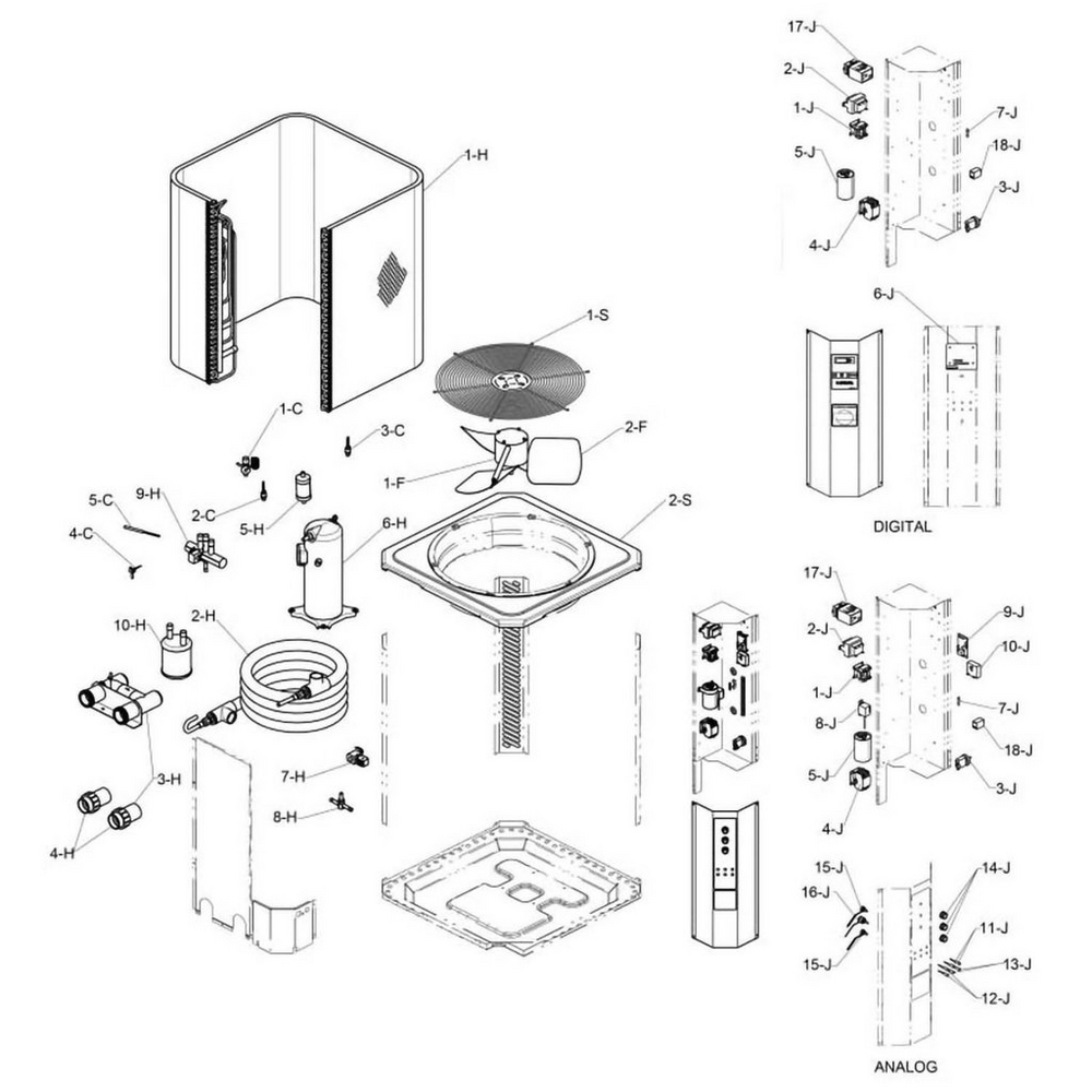 Raypak Heat Pump RHP 5200, 6200, 8200, 6300, 6300ti & 8300ti image