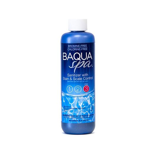 BAQUA Spa Sanitizer with Stain/Scale 16 oz