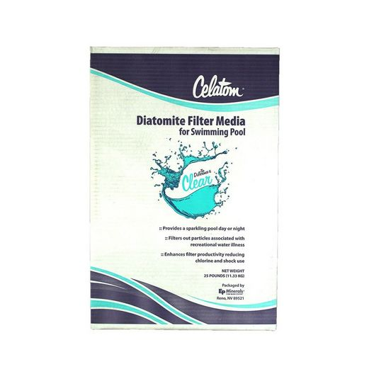 Diatomaceous Earth Filter Powder for DE Pool Filters 25 lbs