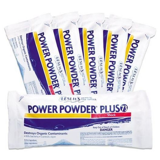 Leslie's - Power Powder Plus Flagship Pool Shock and Super-Chlorinator, 6 Pack - 14694