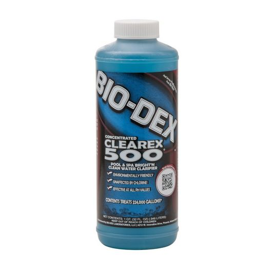 Clearex 500 Pool and Spa Water Clarifier, 1 qt.