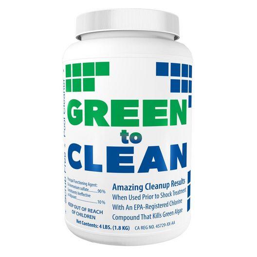 Green to Clean Chlorine Shock Treatment Enhancer for Algae Cleanup, 4 lbs