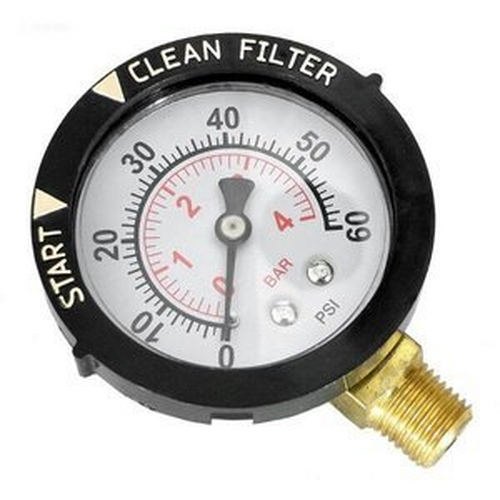 Splash - Replacement Pressure Gauge for Pentair Clean & Clear Cartridge Pool Filters