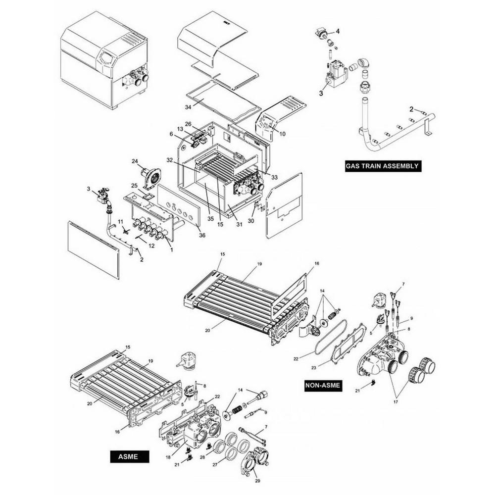 Lochinvar Heater EnergyRite Residential: ER152-402 image