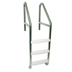 24in. Dade County Elite 3-Step Rollout Ladder with Cross Brace