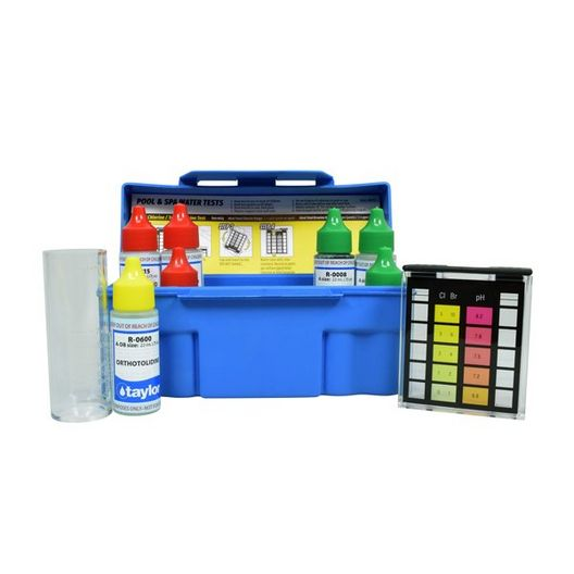 Taylor Technologies - OTO 6-Way Test Kit for Alkalinity, Bromine, Chlorine, and pH - 18548