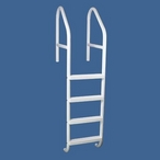 "36"" Commercial 4-Step Cross Braced Pool Ladder, Taupe"