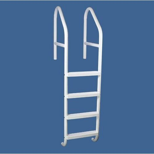 "Saftron - 36"" Commercial 4-Step Cross Braced Pool Ladder, Gray - 366658"