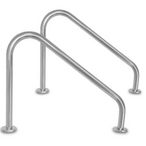 Inter-Fab - 30in. Stair Side Mounted Rail .049in. Wall Tubing (Pair), White Powder Coated - 311389