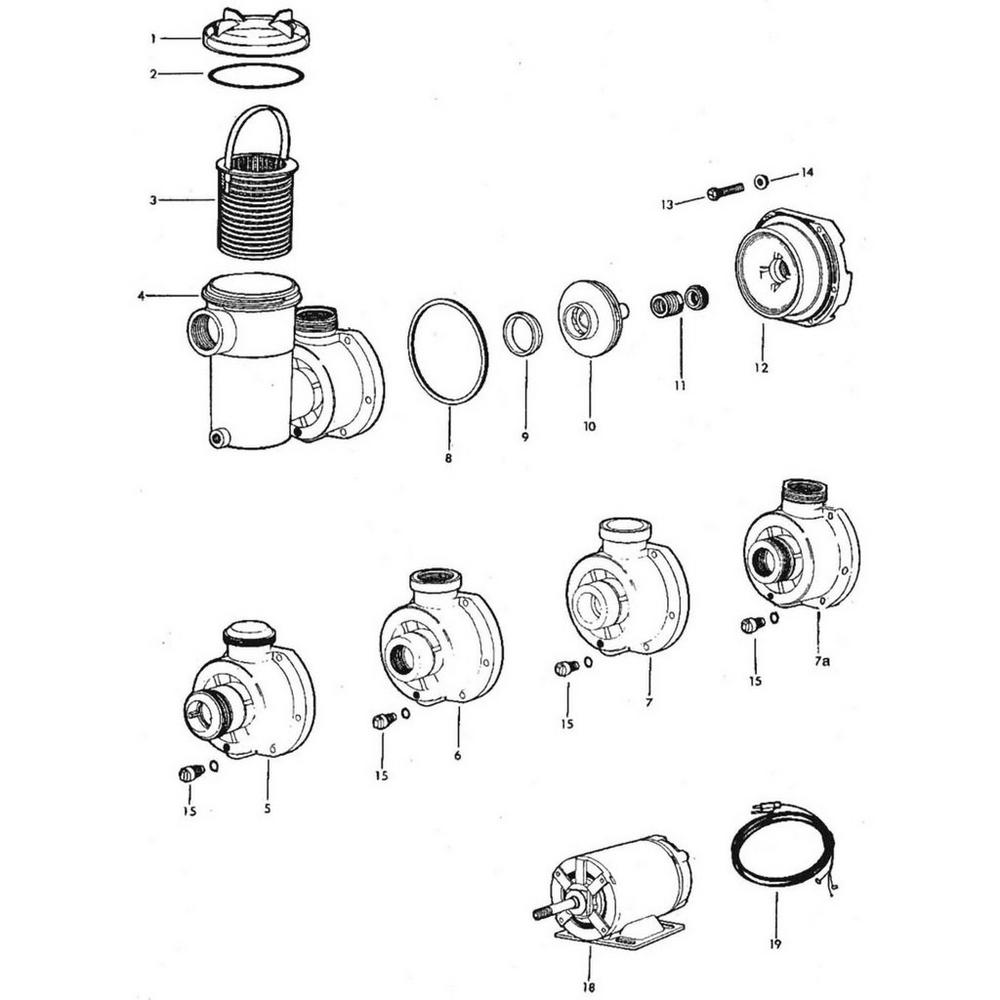 Jacuzzi Models L, LC, LCUN2, LT, LX, LTC, LCU, LTCU, ULCU, ULTCU, LCM Pump image
