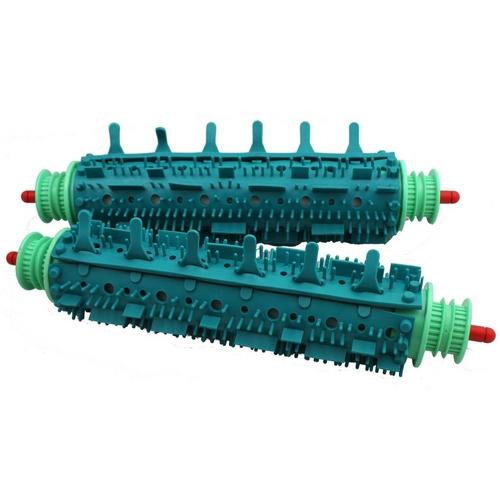 Aquabot - Pool Cleaner Wheel Tube Assembly (Stainless Steel Axle, Black Plastic Bushing Caps)