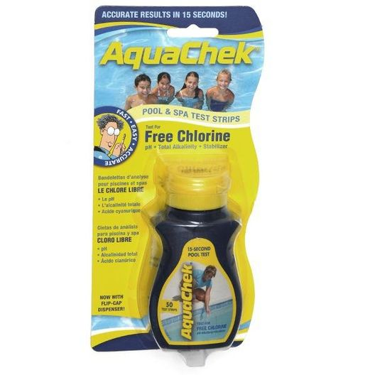 Yellow Free Chlorine Test Strips