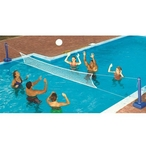 In-Ground Pool Volleyball Game