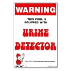 Pool Urine Detector Sign