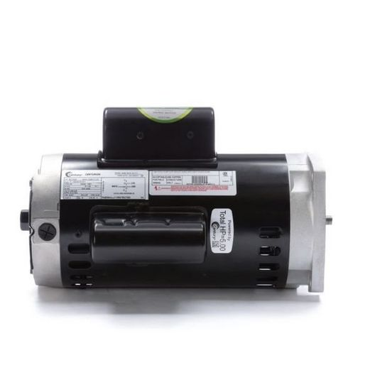 B1000 Square Flange 5HP Single Phase 56Y Pool and Spa Pump Motor, 208-230V