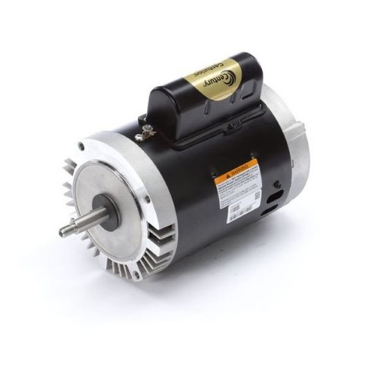 B128 C-Face Single Speed 1HP Full Rated 56J Pump Motor, 7.2/14.4A 115/230V