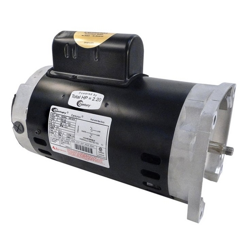 Century A.O. Smith - 56Y Square Flange 2 or 0.33 HP Dual Speed Full Rated Pool and Spa Pump Motor, 10.0/3.5A 230V