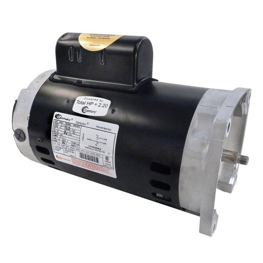56Y Square Flange 2 or 0.33 HP Dual Speed Full Rated Pool and Spa Pump Motor, 10.0/3.5A 230V
