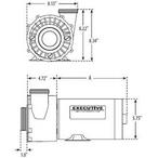 Waterway - Executive 48 - 3421821-1A - 4-1/2HP Dual-Speed 48 Frame Spa Pump 230V - 222890