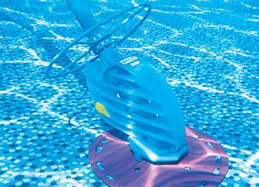 A picture of an above ground pool cleaner