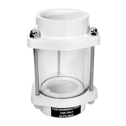 Hayward - Vari-Flo Control 1 1/2in. SKT Valve ABS Horizontal In LIne Sight Glass