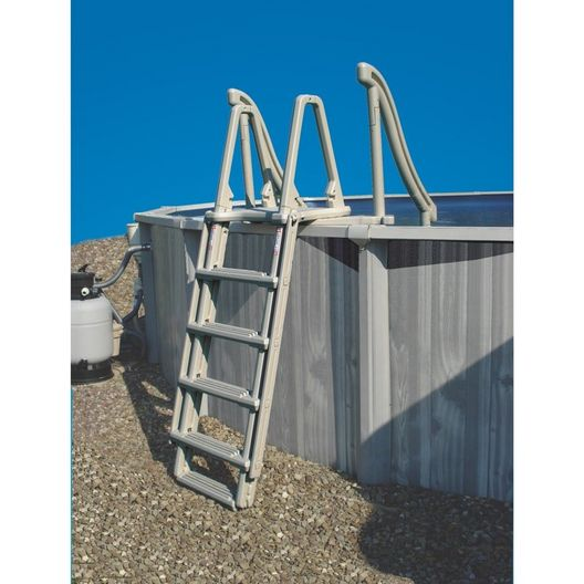 Confer Plastics - Heavy Duty Entry Step Ladder for Curve Add-On Unit, Gray - 223641